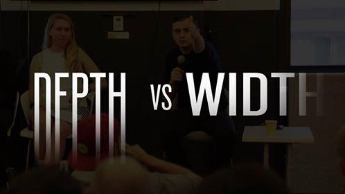 depth vs width